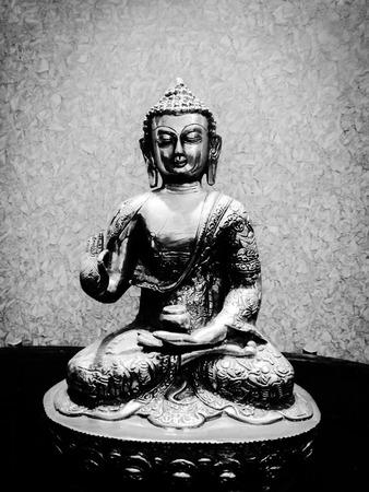 lord gautam buddha silver metal sculpture