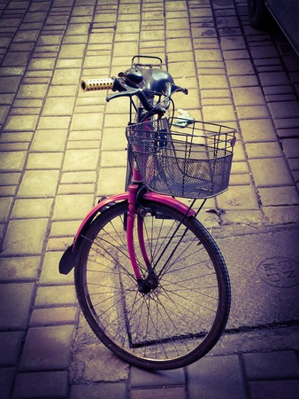 pink womens bicycle standalone shot