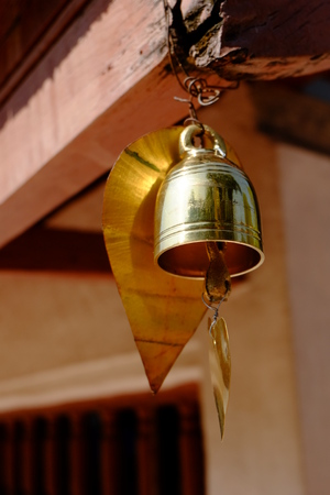 buddhist temple: bell in Buddhist temple