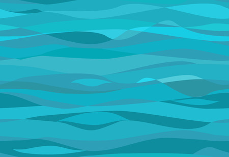 and turquoise: Seamless water pattern Illustration