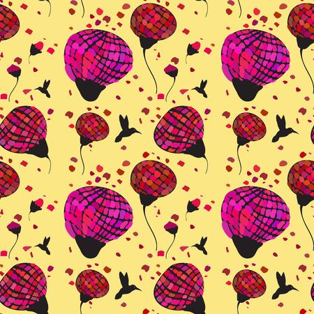 petal: Yellow pattern with bird and petal