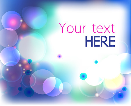 Colorful background with bubbles, spackles and copy space