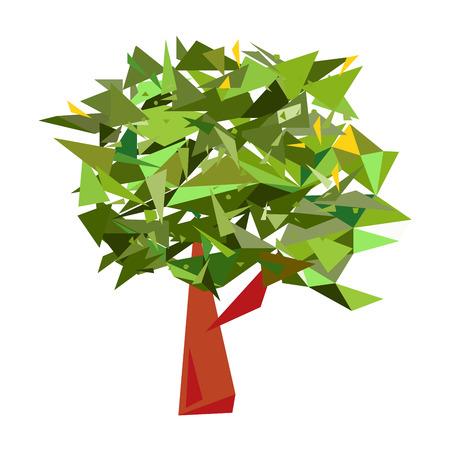 reforestaci�n: �rbol geom�trica con las hojas Vectores