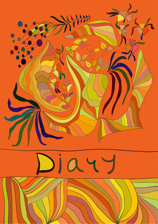 diary cover: Orange funny diary cover Illustration