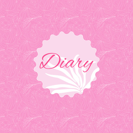 diary cover: Pink diary cover
