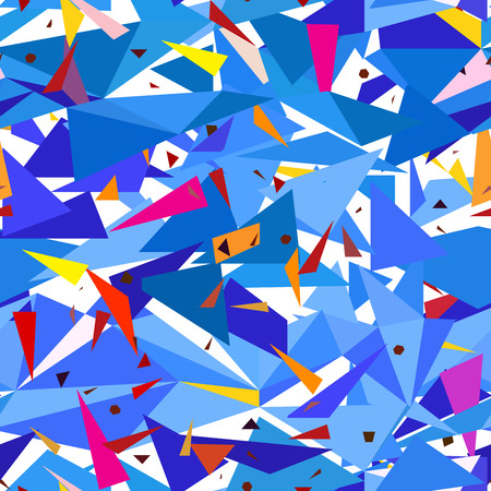 Seamless geometric blue pattern with triangles