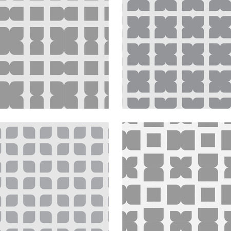tilt: Set of seamless geometric patterns Illustration