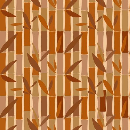 dried: Seamless pattern of bamboo dried sticks