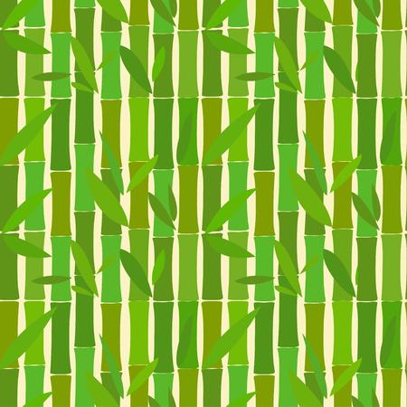 bambu: Patrón transparente de bambú palos verdes Vectores