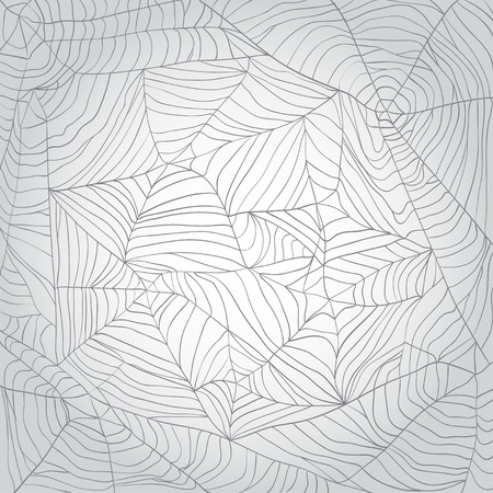 spider's web: Grey spiders web background Illustration