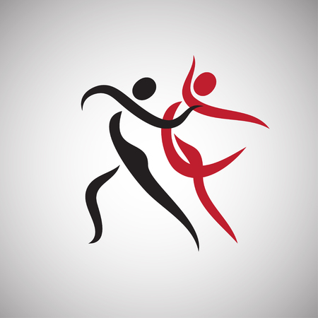 Dancing couple isolated on a white background Vectores
