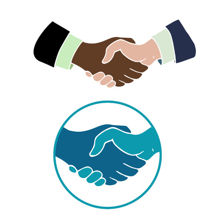 agreement shaking hands: Hand drawn handshake symbols