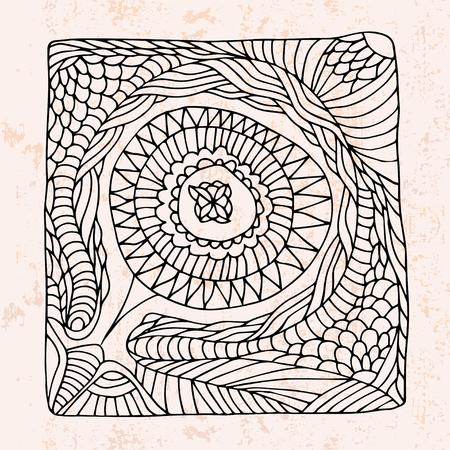 circle shape:  circle shape abstract flower Illustration