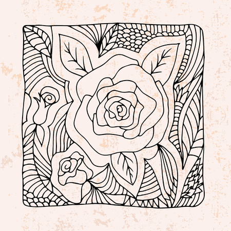 leafs:   roses and leafs Illustration