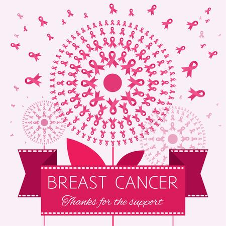 cancer de mama: Símbolo de la cinta del cáncer de pecho Vectores