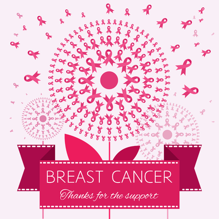 breast cancer awareness ribbon: Symbol of Breast Cancer Awareness Ribbon Illustration