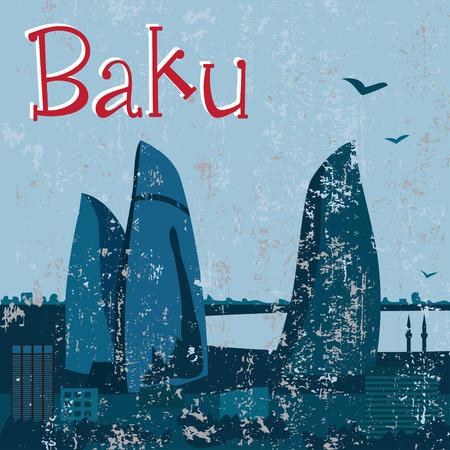 baku: Grunge night Baku Flame Towers