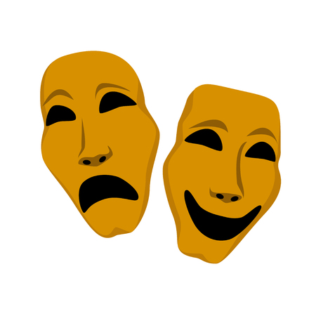 sadness: Two theater mask - sadness and laughing