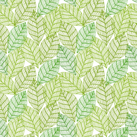 green background: Colorful green seamless leafs background