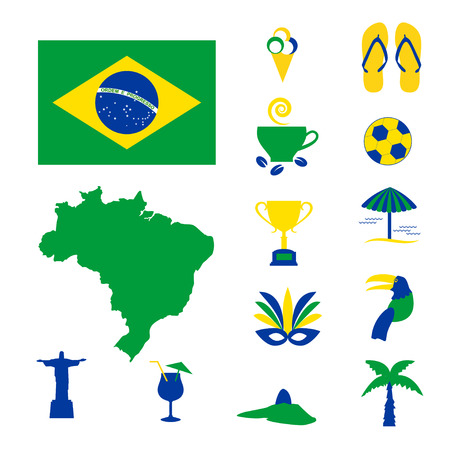 coffee crop: Brazil colorful computer icons