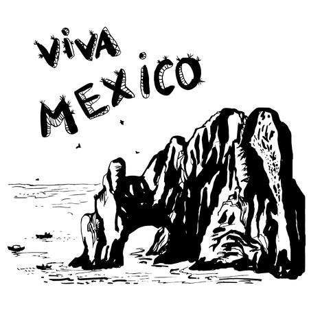Arch of Cabo San Lucas - MEXICO vector