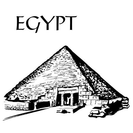 giza: Great Pyramid of Giza Illustration