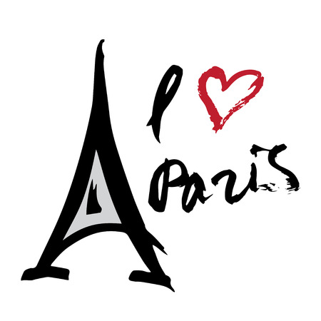 illustrate i: Paris background with Eiffel tower