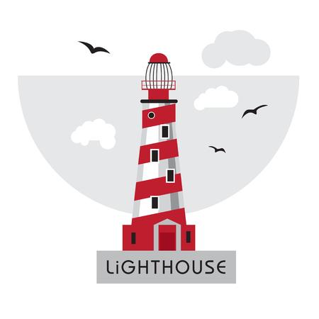 coast guard: Isolated on white background Lighthouse