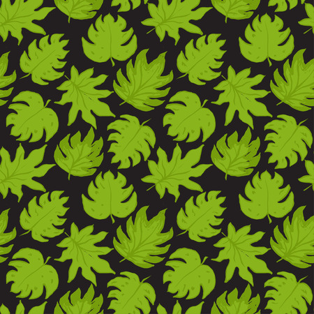 green leafs: Seamless pattern with green leafs Illustration