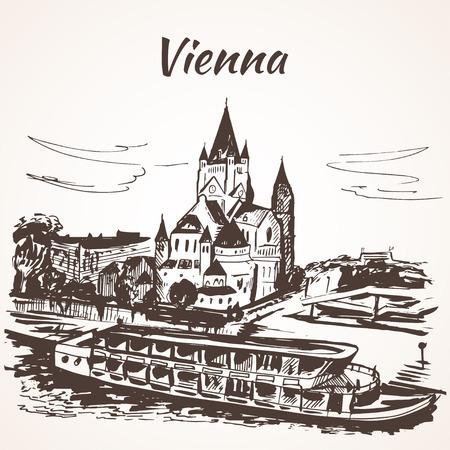 palace: Sch�nbrunn Palace, Vienna - near the river