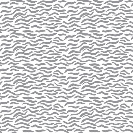 Naadloze abstracte zwart-wit golfpatroon Vector Illustratie