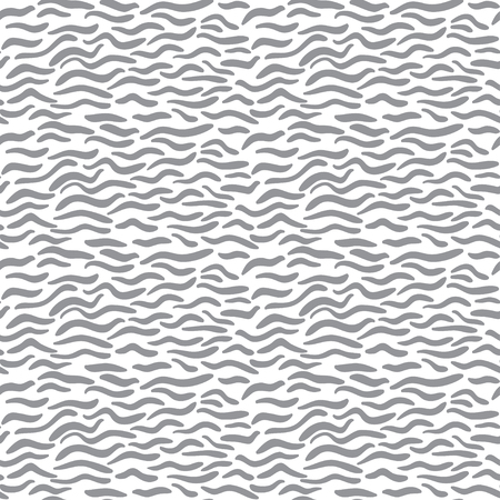 Seamless abstract monochrome wave pattern Vector Illustration