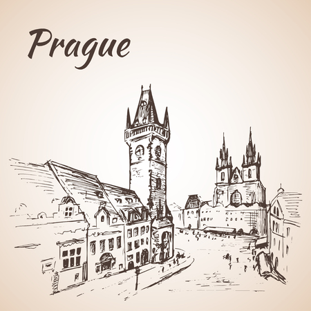 old town square: Prague, Czech Republic - old town square.
