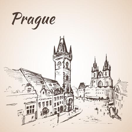 town square: Prague, Czech Republic - old town square.
