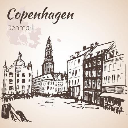La place centrale, Amagertorv - Copenhague