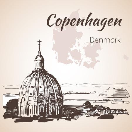 Eglise de Frederik - Copenhague, Danemark