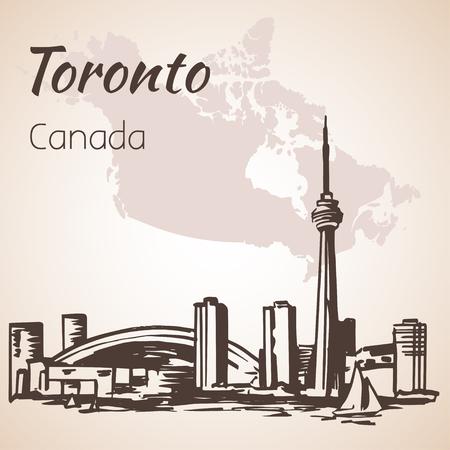 Toronto, Canada Sityscape vicino alla costa. Isolato su sfondo bianco