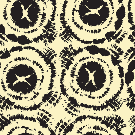 Hand drawn seamless pattern with ink prints