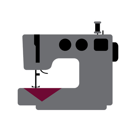 Isolated tailor machine icon - vector