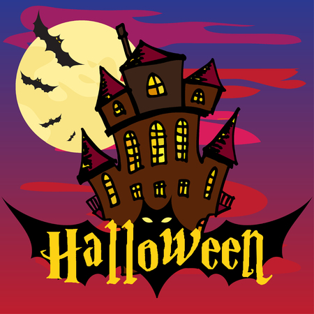 spider web: Halloween colorful background vector