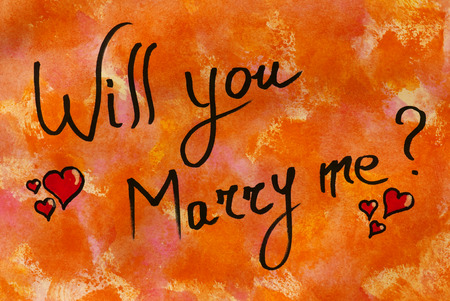 will you marry me: Will you marry me?