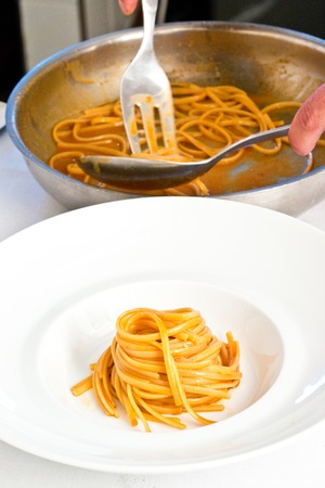 preparing dough: Chef preparing dough Stock Photo