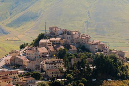norcia: Castelluccio of Norcia Sibillini Stock Photo