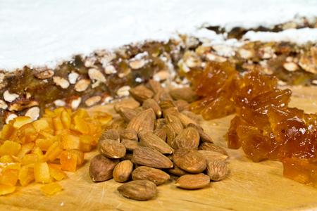 Panforte ingredients Stock Photo