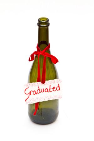 olive green: Bottle graduated