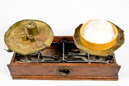 weigh machine: Ancient balance Stock Photo