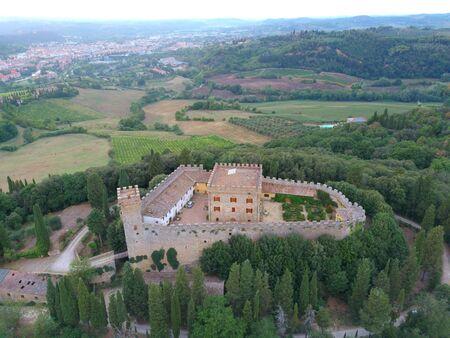 Strozzavolpe castle in chianti region