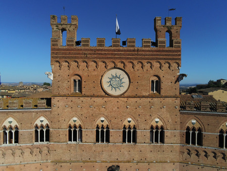 Palace Common Siena drone view Editorial