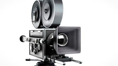 optical: Vintage movie camera closer