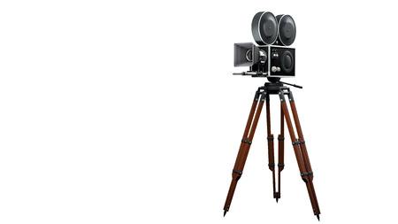 Jahrgang Filmkamera voll Standard-Bild - 50646616